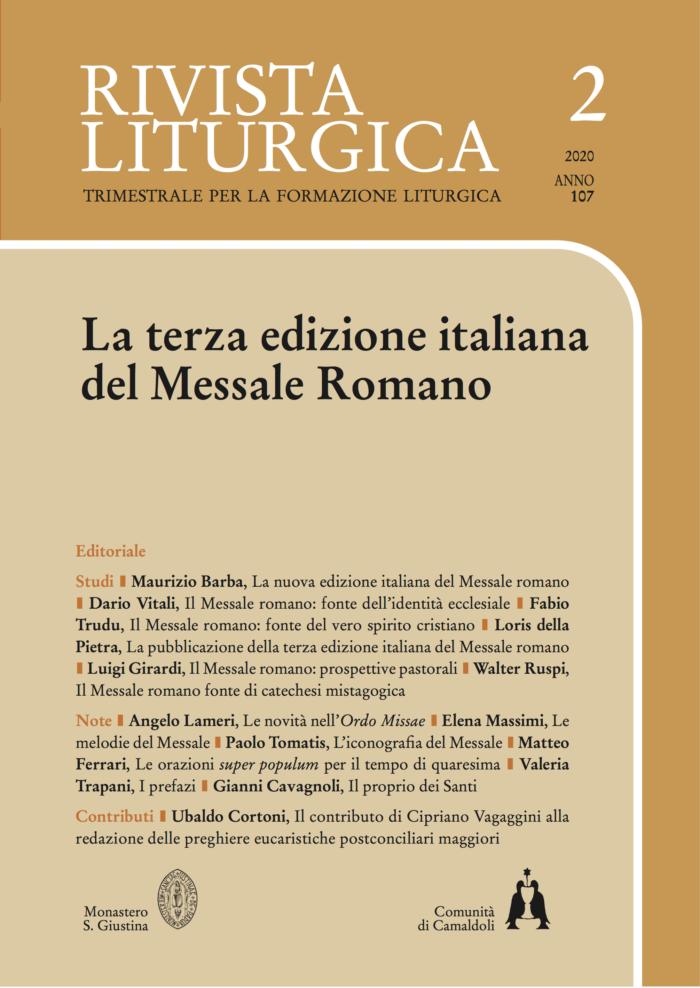 La terza edizione italiana del Messale Romano