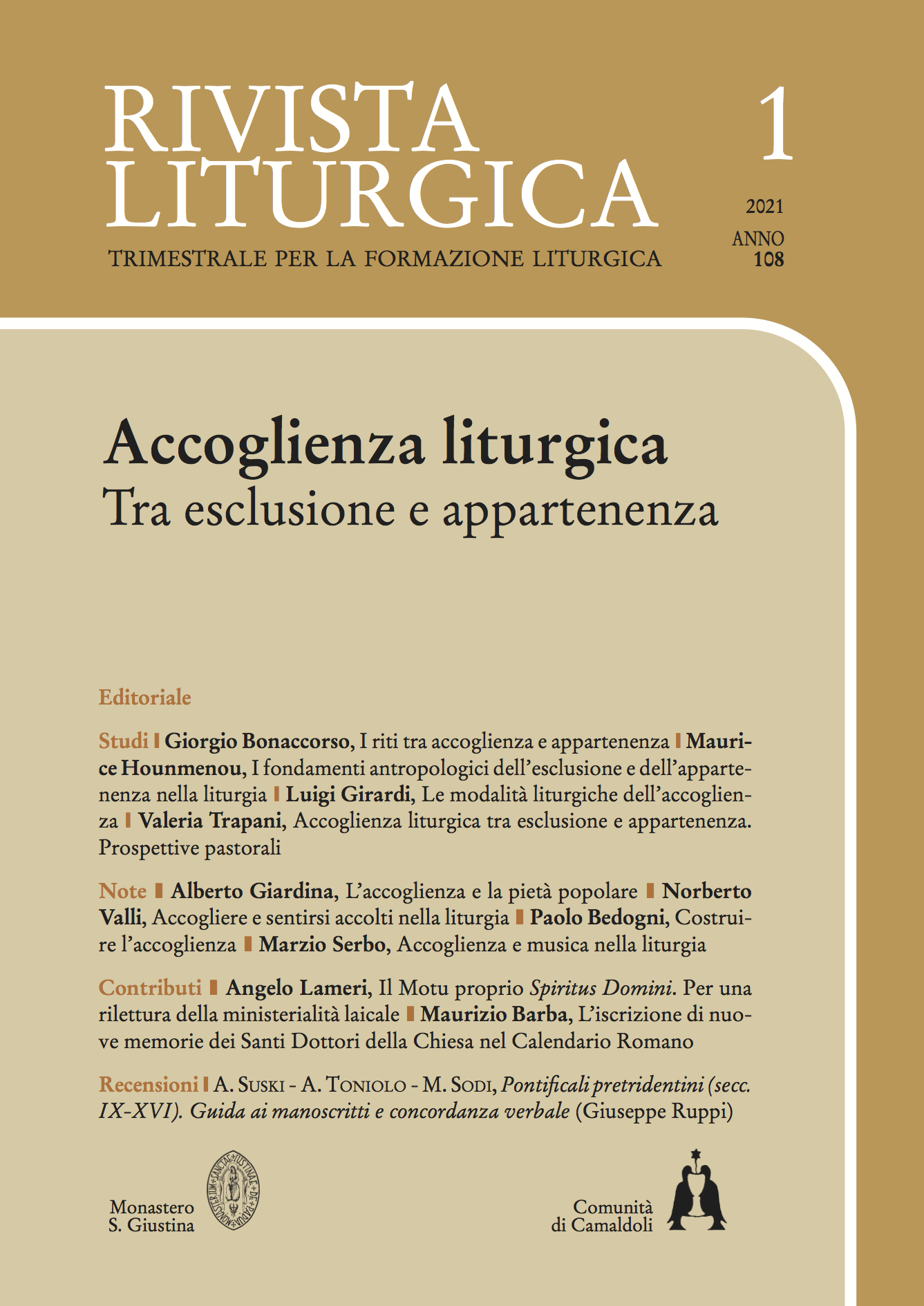 Accoglienza liturgica